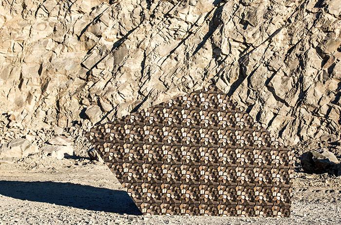 На создание плитки вдохновили горы и скалы