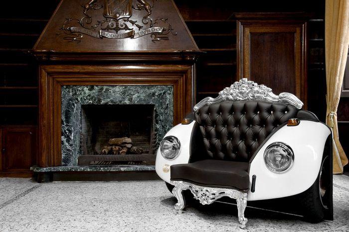 Элегантное кресло с необычным дизайном