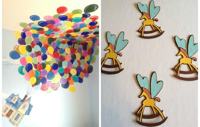 Необычный декор стен в детской