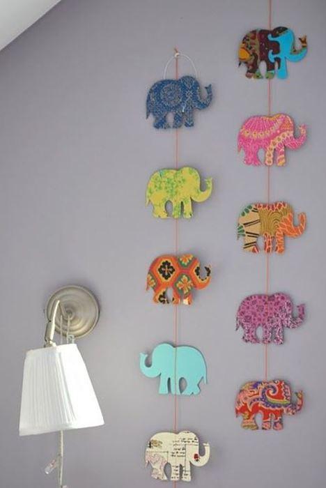 Способ №13. Забавные слоники из картона