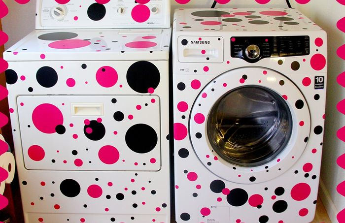 Необычный декор стиральной машинки