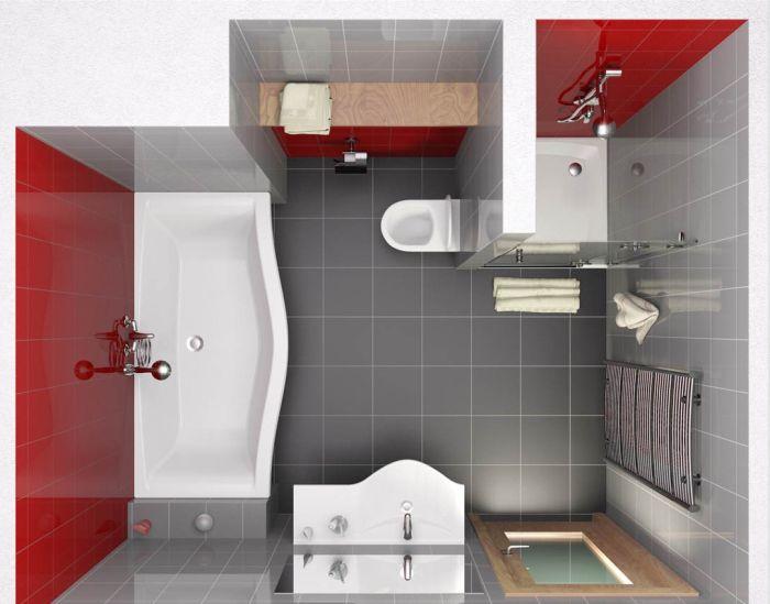 Удачная планировка ванной с душевой кабиной