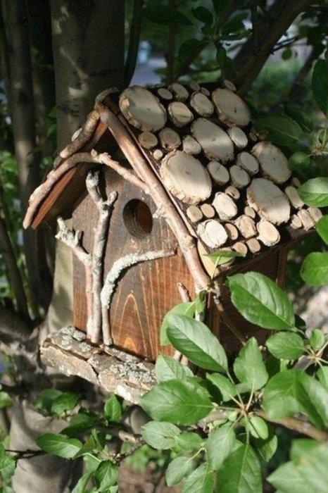 Домик для птиц в экостиле
