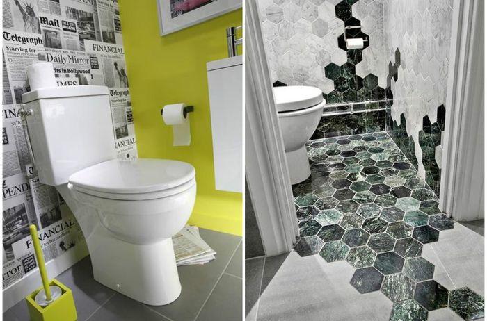 11 способов сделать маленький туалет интересным и нескучным.