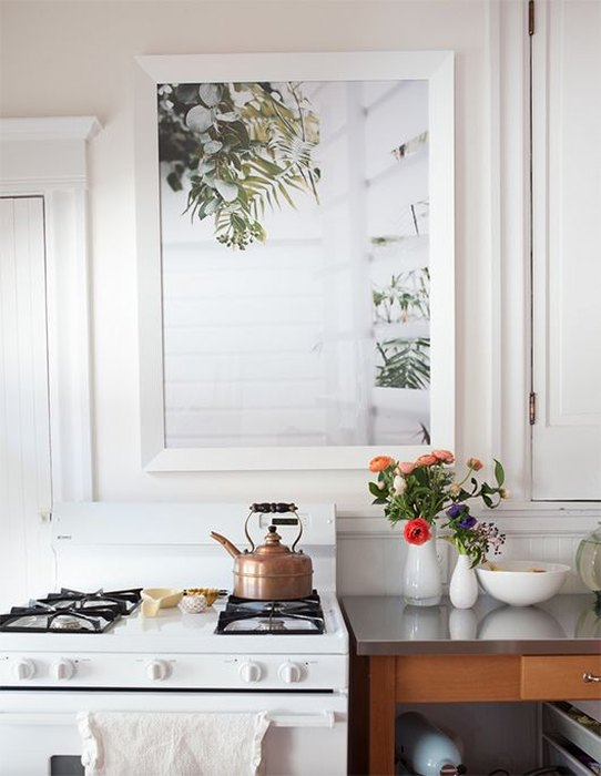 Ложное окно в интерьере кухни