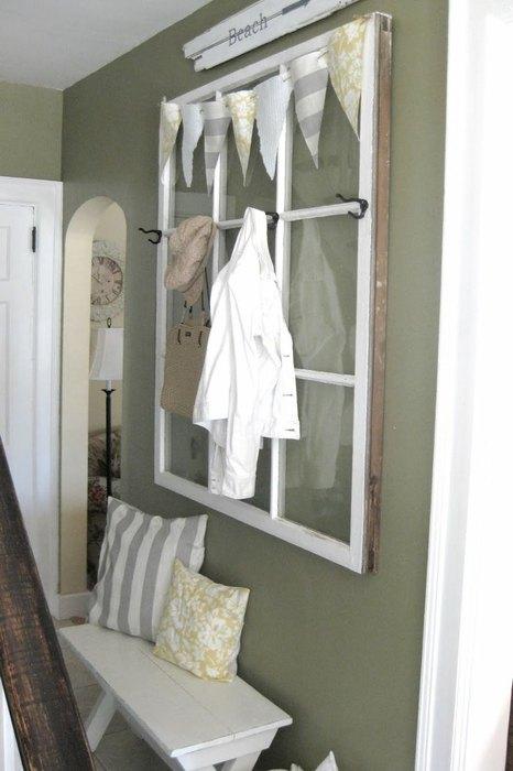 Ложное окно в деревенском стиле