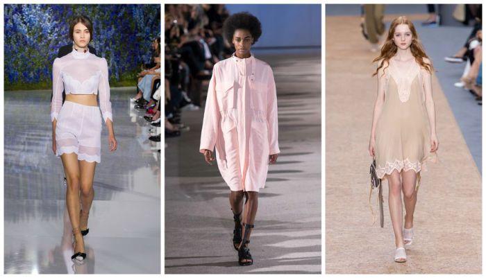 Шёлковая пижама и полупрозрачная комбинация