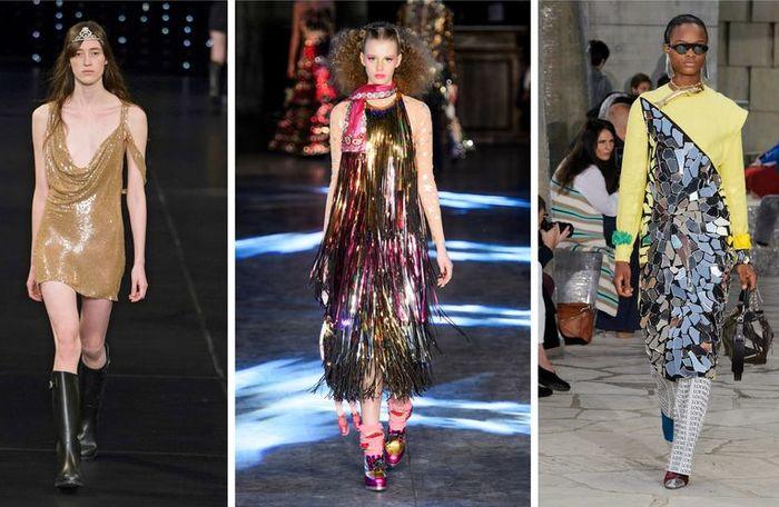 Блестящие платья снова в моде