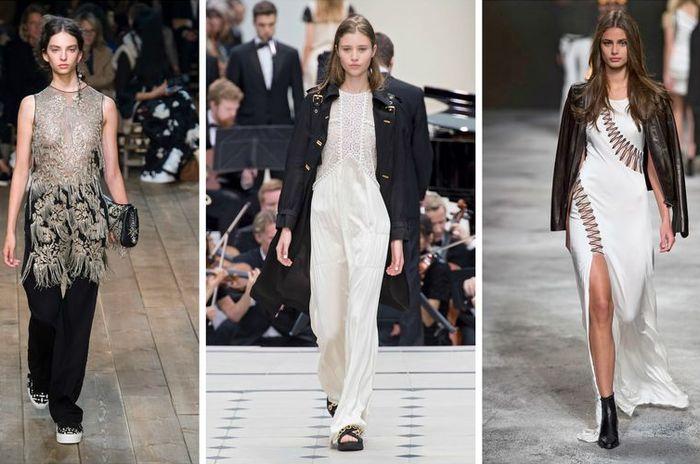 Лёгкие блузы рекомендуют сочетать с изделиями из плотной ткани