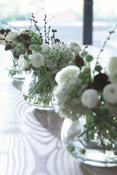 Полевые цветы, как украшение стола