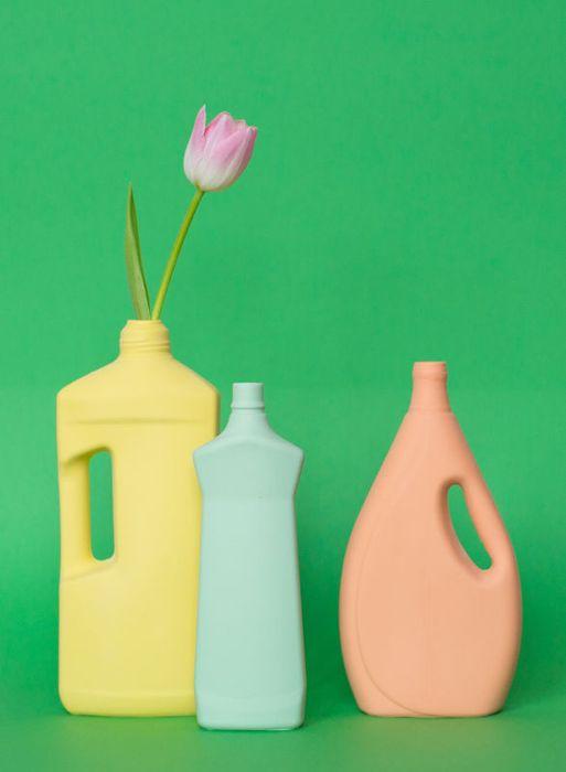Тюльпан в необычной вазе