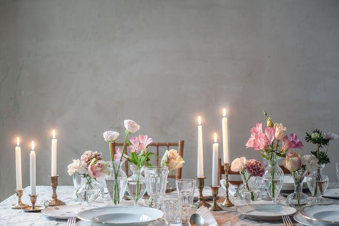 Красивое и лёгкое украшение стола