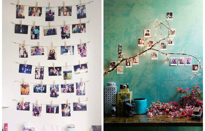 Креативная развеска фотографий