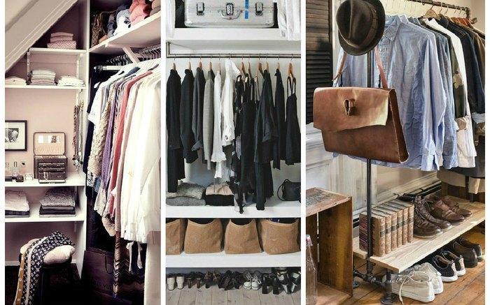 Варианты оформления гардеробных