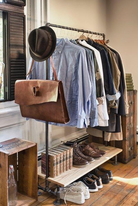 Мобильная гардеробная в индустриальном стиле