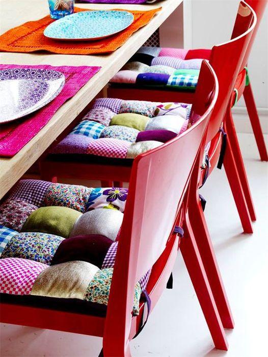 8. Пошить мягкие накладки на стулья