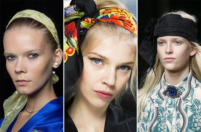Стильная деталь: шарф на голове