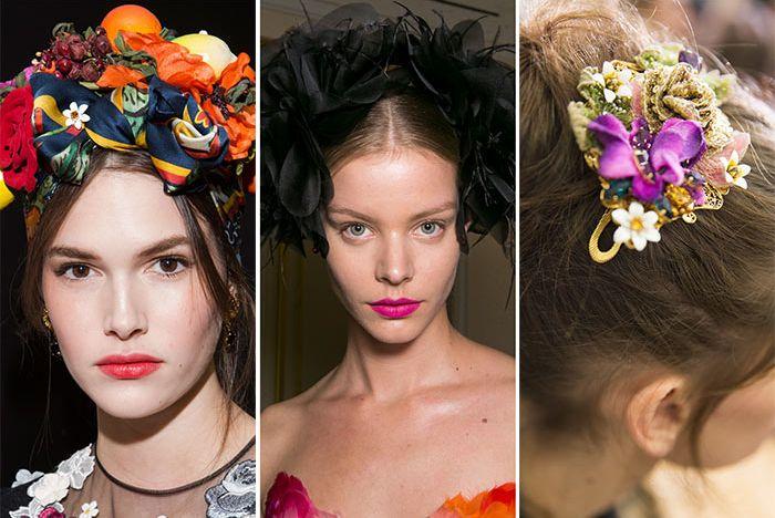 Яркие цветные ободки для волос