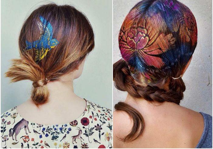Произведения искусства на волосах
