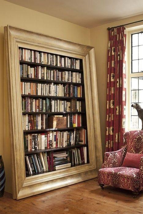 Гигантская рама, вместо книжного стеллажа