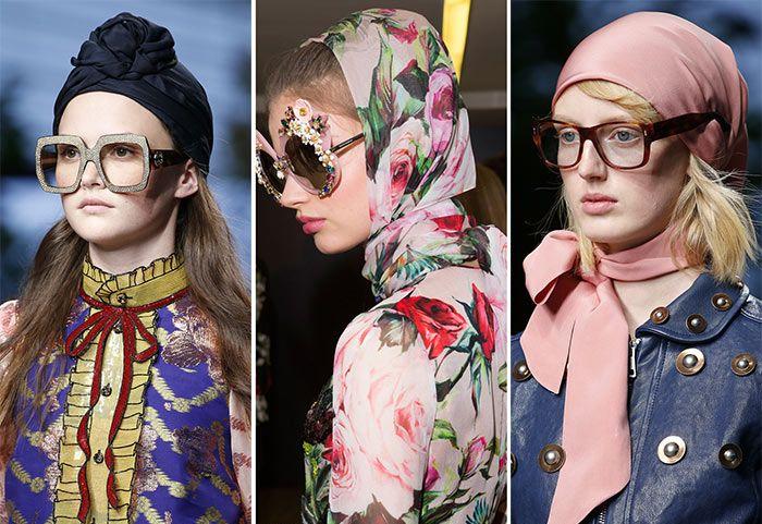 Модные платки и шарфы на голову