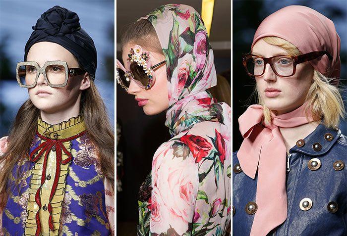 Стильные платки на голову