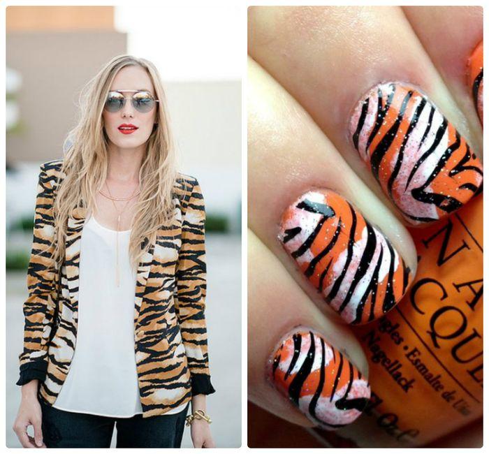 Модный тигровый принт