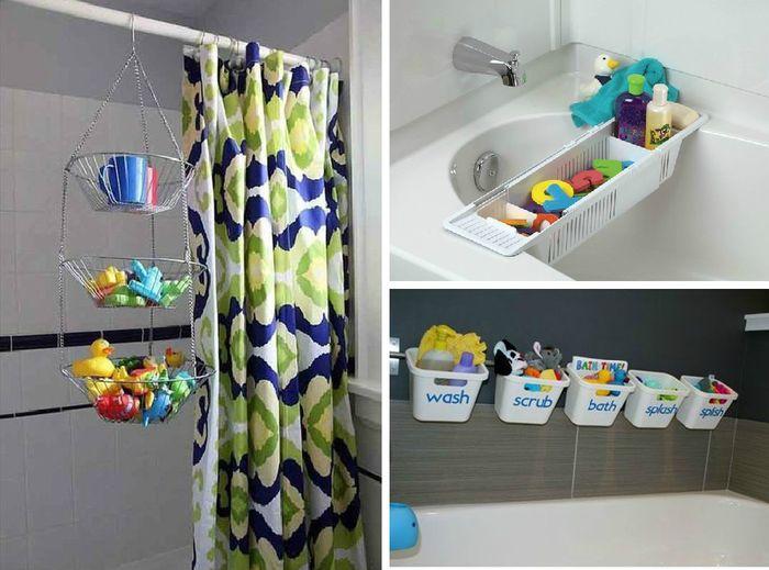 Хранение игрушек в ванной