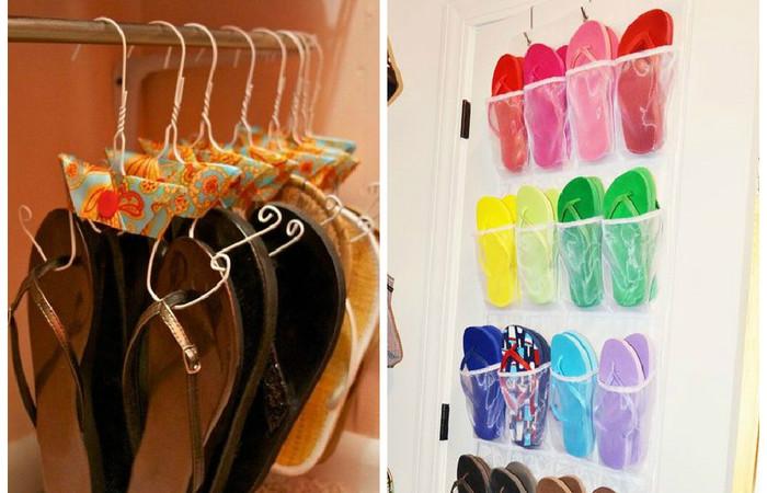 Куда спрятать летнюю обувь?