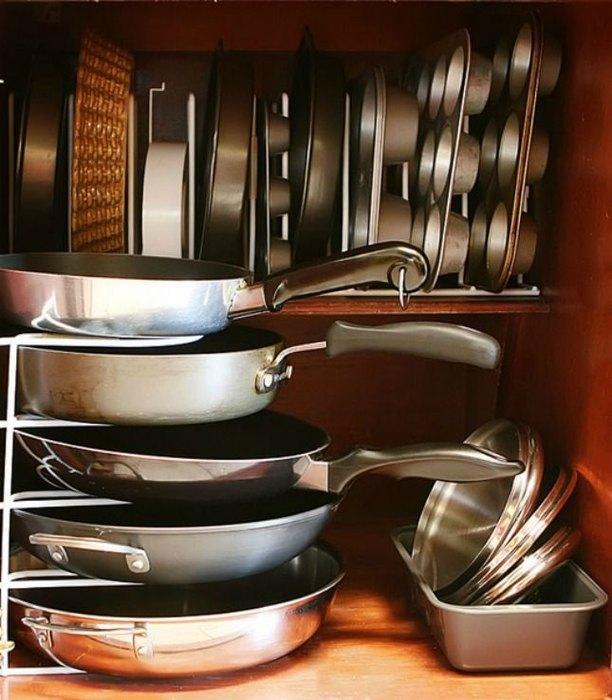 Хранение сковород и форм для выпечки