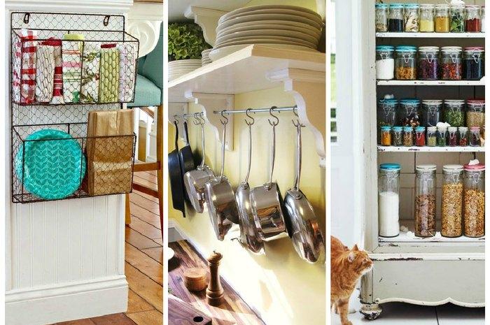 Системы хранения на маленькой кухне