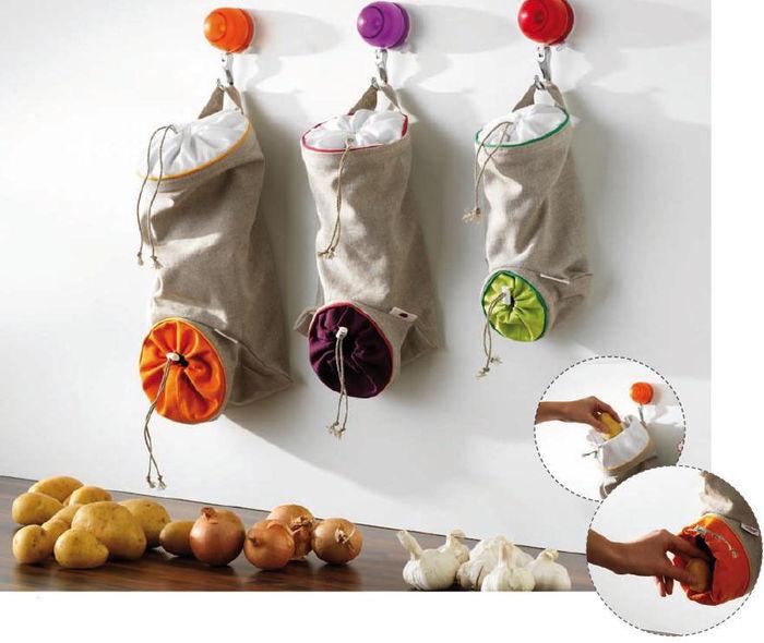 Интересные органайзеры для хранения лука, чеснока и картофеля