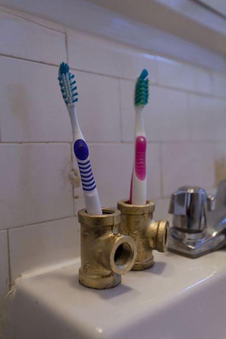 Подставка под зубную щетку своими руками