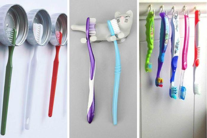 Как сделать подставку для зубных щеток своими руками