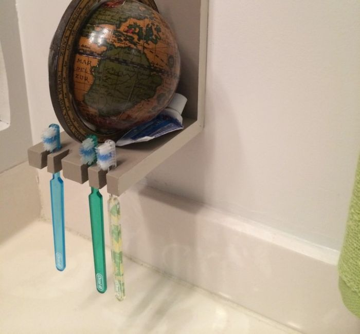 17 оригинальных способов хранения зубных щёток  13b1df0a0ad27