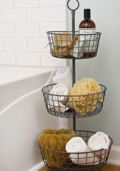Многоэтажная подставка для хранения в ванной