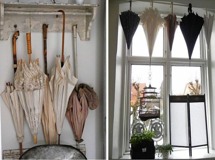 Вариант хранения, если в доме нет зонтницы