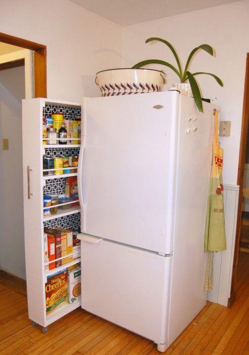 4. Выдвижная ниша на кухне