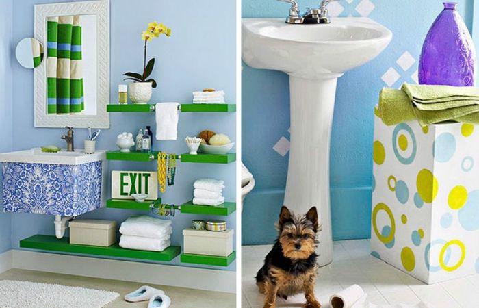 Яркие и крутые идеи для ванной