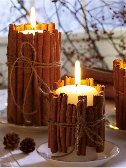 Палочки корицы, как элемент декора