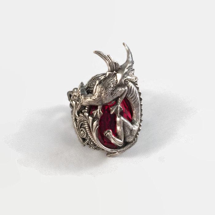 Кольцо Таргариен (серебро и кристалл Сваровски) Daedra Jewelry