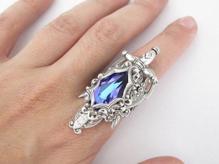 Кольцо Kingslayer (серебро и кристалл Сваровски) Daedra Jewelry