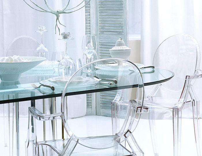 Используйте прозрачную мебель