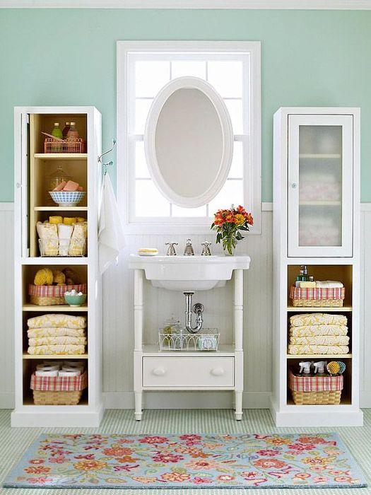 Хранение в небольшой ванной