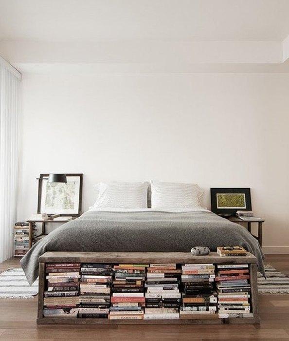 Идея №6. Хранение книг в маленькой спальне
