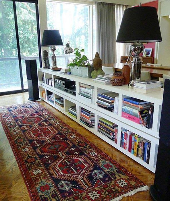 Идея №7. Хранение книг в квартире-студии