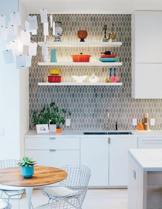 Кухонный фартук, который является украшением интерьера