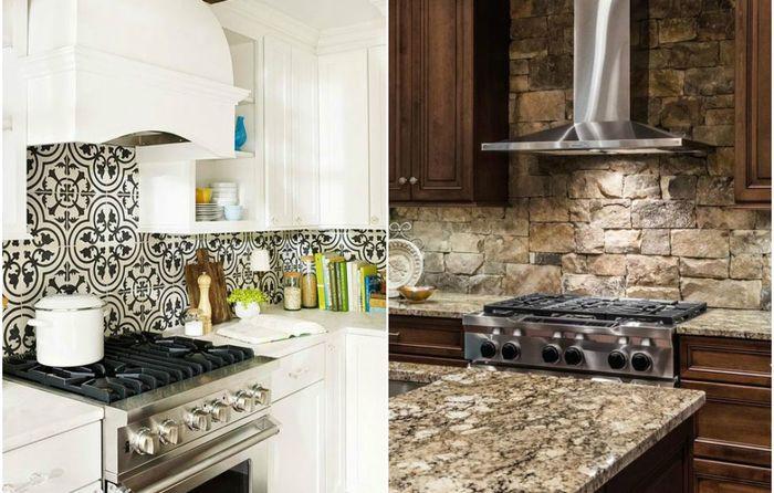 Стильные кухонный фартуки