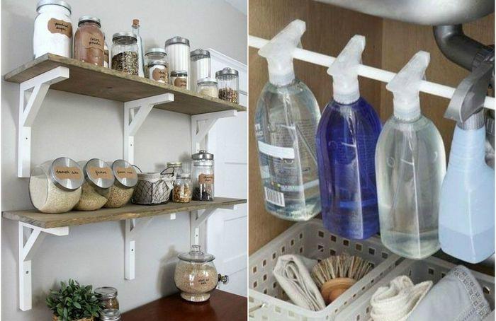 Хранение на кухне: 10 стильных и практичных идей