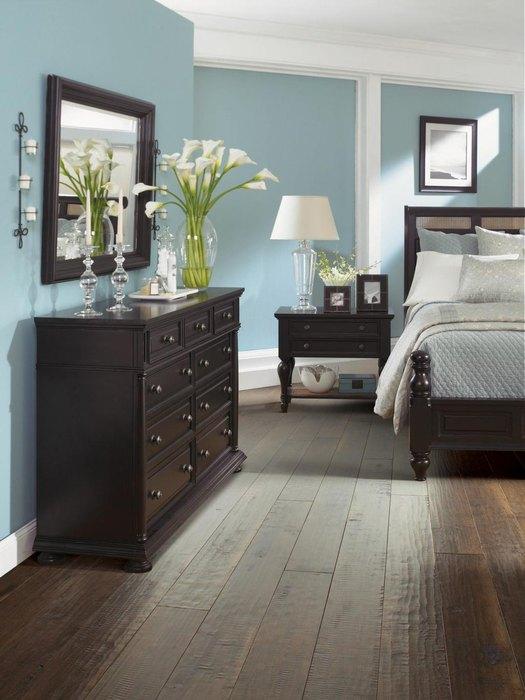 Baby Blue Bedroom Set: Как сочетать оттенки синего и коричневого в интерьере